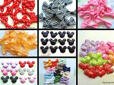 HAIR CRAFT BOWS APPLIQUES MICKEY MINNIE MOUSE STRAWBERRY GINGHAM SEQUIN