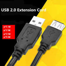 Fast USB 2.0 EXTENSION Cable Lead A Male Plug to Female Socket Cable 1M 2M 3M 5M