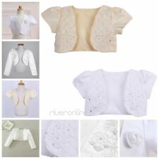 Flower Girl Bolero Jacket Shrug Short Cardigan Sweater Dress Cover Wedding Party