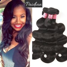 10A Body Wave Natural Virgin Brazilian Human Hair Weft Hair Extension Weaves