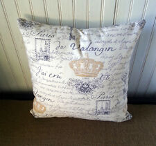 NEW French Country Farmhouse Decorative Pillow Cover 16 x 16 Handmade