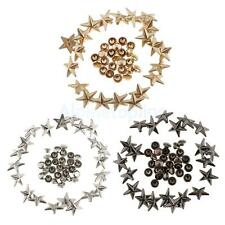 20pcs Metal Star Rivets Punk Studs Spikes Fasteners for Leather Belt Bag 13mm