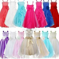 Flower Girl Dresses Formal Bridesmaid Wedding Party Prom Ball Gown Pageant Dress