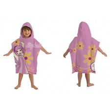 NEW GIRLS CHILDRENS LAZY TOWN STEPHANIE 100% COTTON BEACH TOWEL HOODED PONCHO