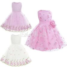 New Flower Girl Dress Princess Pageant Wedding Birthday Party Bridesmaid Dress