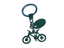 Custom engraved chrome Push Bike Cycle ring key chain in gift pouch ref - BR125