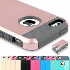 Rubber Hard Shockproof Cover Phone Case Hybrid Armor Rugged For Apple iPhone