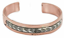 $370Tag .925 Sterling Silver Navajo Authentic Copper Native American Bracelet
