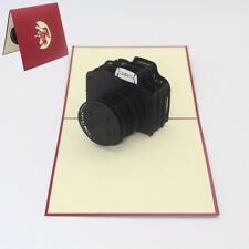 3D Pop Up Greeting Card SLR Cameras Happy Birthday Valentine Greeting Card