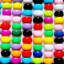 10-100Pcs Wholesale Mixed Lots Multi Candy Color Resin Fashion Men Womens Rings