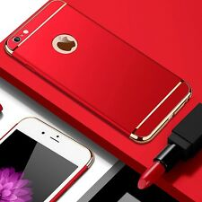 Luxury Slim 3IN1 Shockproof PC Plating Back Cover Case For iPhone 5S 6S 7 Plus Y
