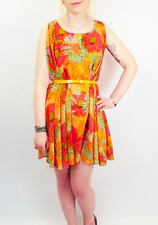SALE! ANDY WARHOL PEPE JEANS FLOWER FLORAL DRESS Limited Edition COREY S1C XS
