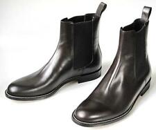 new 1K mens GUCCI dark cocoa brown leather BOOTS shoes - classic