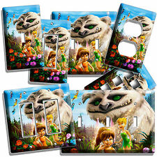 TINKER BELL FAWN NEVERBEAST GRUFF MONSTER FAIRIES LIGHT SWITCH WALL PLATE OUTLET