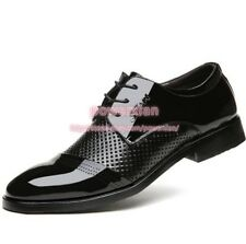 Mens Dress Oxfords Lace Up Patent Leather Mesh Formal Wedding Bridal Shoes SZ