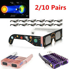 Hot!!! Solar Eclipse Glasses 2017 Galaxy Edition (10 Pairs) CE and ISO Standard