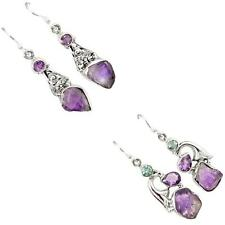 925 sterling silver amethyst rough earrings jewelry by jewelexi 6588A