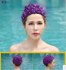 Swim Cap Lace Floral Vintage Bathing Hat Long Hair Adult Womens Ladies Swimming