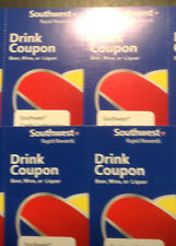 8 Southwest Airlines Drink Coupons Gift Certificates 12/31/17 Expiration