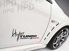 Hyper Tuned Powered By SUBARU Car Decal Vinyl Sticker WRX STI IMPREZZA