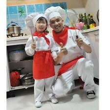 Funny Cook Chef Role Play Costume Top Pants Apron Scarf Hat Set Fancy Dress