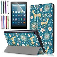 Smart Shell-Stand Cover Case For All-New Amazon Fire HD 8 Tablet 7th Gen 2017