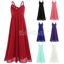 Crystal Bridesmaid Wedding Party Prom Communion Graduation Flower Girl Dresses
