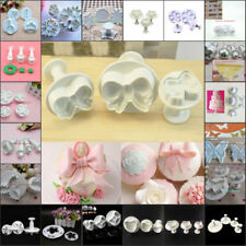 More Shape Petals Flower Cutter Plunger Cookie Cake Decorating Sugur Pastry Mold