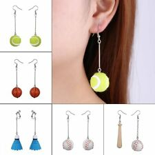 Fashion White Gold GP Ball Long Drop/Dangle Ear Earrings Women Lady Jewelry Gift