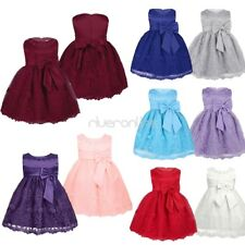 Kid Baby Girl Flower Lace Dress Birthday Princess Party Pageant Dress 6-24 Month