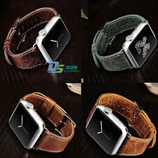 38/42mm Genuine Leather Strap Cuff Bracelet Leather Watch Bands For Apple Watch