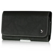 Black High Quality Luxury Leather Belt Clip Holster Pouch Case For LG Phones