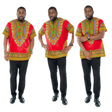 T Mens Printed African National Style Short-sleeved Dress Costumes Dashiki #7099