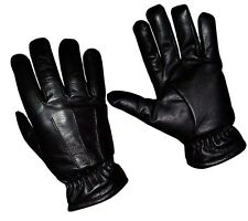 Cold Weather Thinsulate Genuine Leather Police Winter Gloves Black Women
