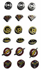 DC Comics Super Hero Logos Set of 3 Floating Charms - You Choose