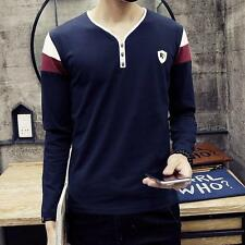 2017 Hot Summer Fashion Causal V Neck T-shirts Mens Short Sleeve Tee Shirts NEW