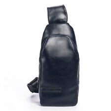 Men's Vintage PU Leather Travel Motorcycle Messenger Bag Shoulder Bag Chest Bag