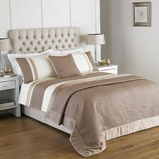 Gold and Cream Duvet Cover Set and / or Cushion Cover in Gold