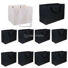 10pcs Retro Holiday Party Kraft Gift Bags Wedding Shopping Bag Carrier Loot Bags