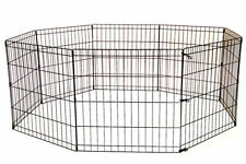 """24"""" 30"""" 36"""" 42"""" 48"""" Tall Dog Playpen Crate Fence Pet Play Pen Cage / 8 Panel NEW"""