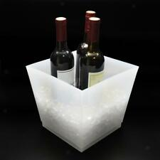 10L Trapezoidal LED Light Ice Bucket Champagne Wine Drinks Beer Ice Cooler