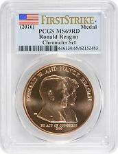 (2016) Ronald Reagan Coin and Chronicles Set Medal PCGS MS69RD First Strike