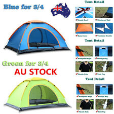 Automatic Pop Up Camping Tent Mosquito Net Quick Open Cabana Sunshade Shelter