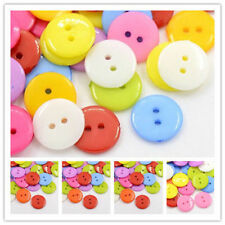 100 x Mixed Color, Sizes 2-Hole Acrylic Sewing Plastic Buttons Crafts Findings