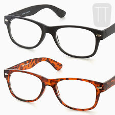 New Rimmed Retro READING GLASSES - BLACK/Tortoiseshell +1.0+1.5+2+2.50+3.00