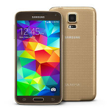Samsung Galaxy S5 SM-G900A 16GB SmartPhone GOLD Unlocked Bell Rogers Fido Telus
