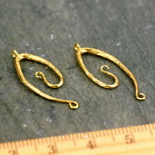 Solid Brass Vine Connector Charm Earring Making Findings necklace pendant be39