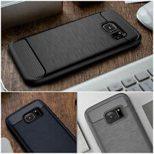 Ultra Slim ShockProof Silicone Brushed TPU Rugged Case Cover For iPhone Samsung
