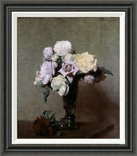 Global Gallery 'Vase of Flowers' by Henri Fantin-Latour Framed Painting Print