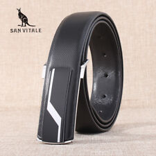 New men's belts straps cowhide Genuine leather smooth buckles Belts